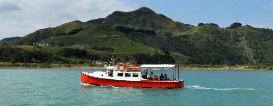 Mokau, Nueva Zelanda: Beautiful shot showing off the awesome new red paint job