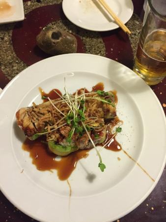 242 Cafe Fusion Sushi: OMG! Unagi, Tempura Shrimp, Avocado and Crab/