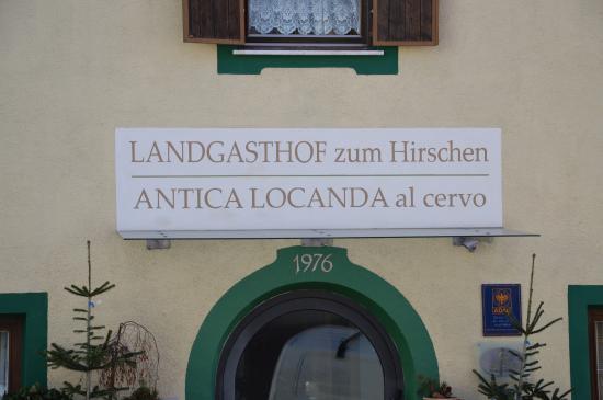 Landgasthof zum Hirschen: Insegna