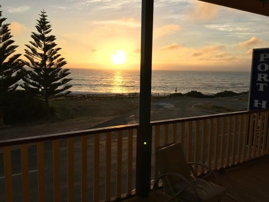 Port Hotel Hopetoun: view from the bedroom
