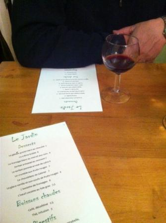 Menu picture of le jardin d 39 en face paris tripadvisor for Restaurant le jardin neufchatel menus