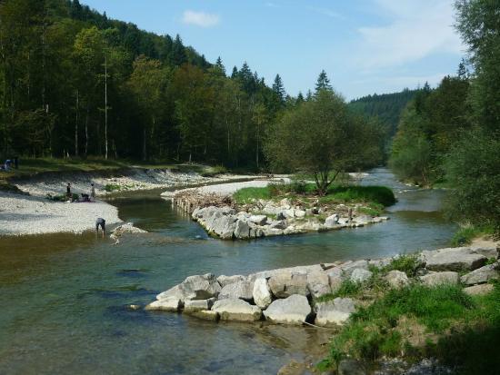Winterthur, Schweiz: Töss auf dem Rundweg