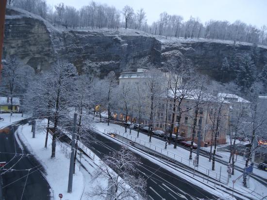 Hotel Neutor: vue après une nuit de niege