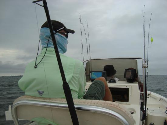 Davey dee s charters captain davey heading us out to fish off of the