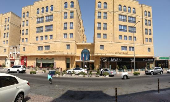 Doha Downtown Hotel Apartments: Hotel Entrance As Seen From The Street.