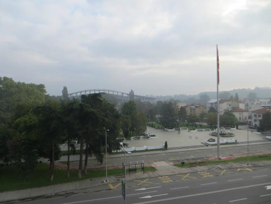 Hotel City Park : View from the room (to the city park)