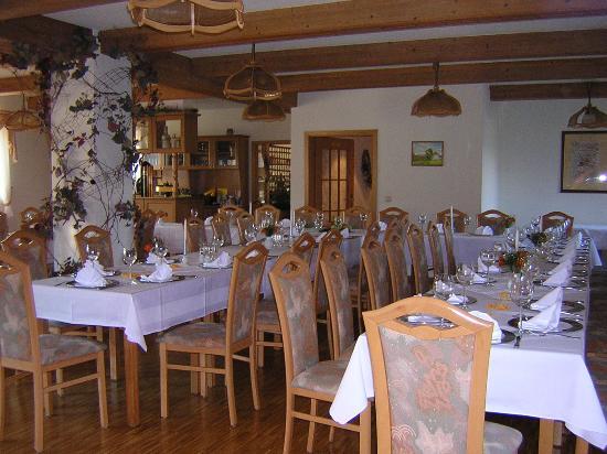 Lauter-Bernsbach, Deutschland: Tafel im Restaurant