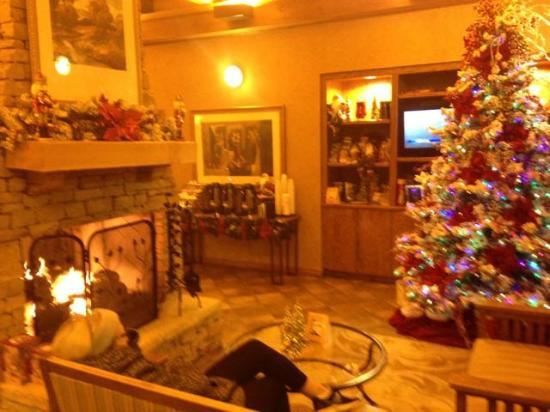 Econo Lodge Riverside: Lobby is pretty and comfortable, important to me
