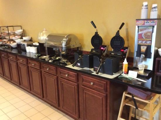 Country Inn & Suites By Carlson, Gurnee: waffles!