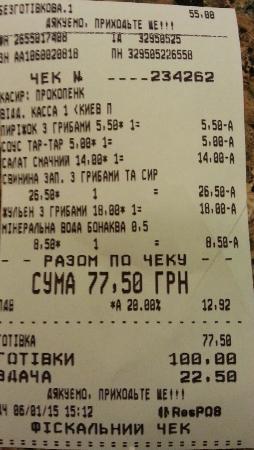Puzata Hata : Costo di un pranzo abbondante