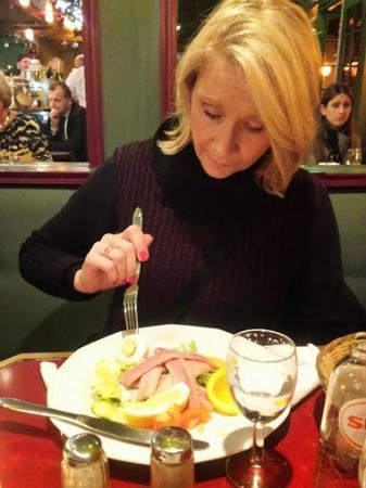 Small Talk Het Restaurant: Eel... Tastes like undercooked bacon. New to us!