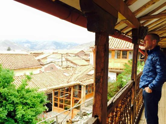 El Balcon: Enjoying the view from our room