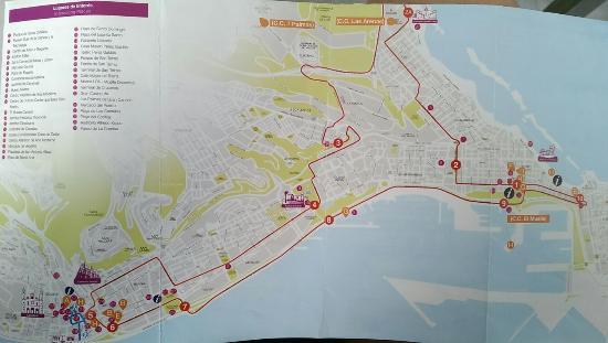 City Sightseeing Las Palmas de Gran Canaria: Схема маршрута