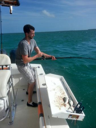Capt. Vinny Sportfishing Key West - Private Charters: Fighting the 300lbs Nurse shark