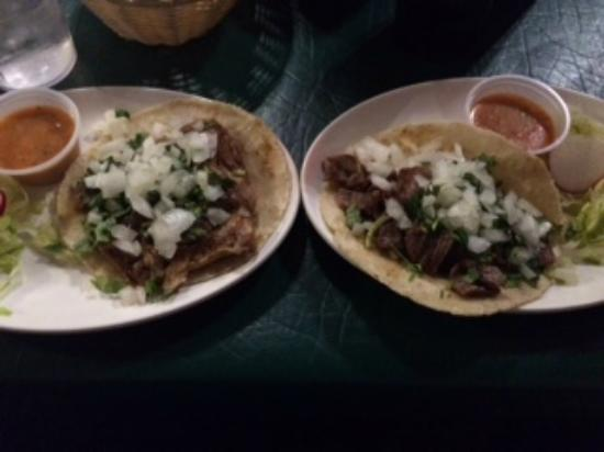 The Loco Frijole : carne asada & carnitas tacos