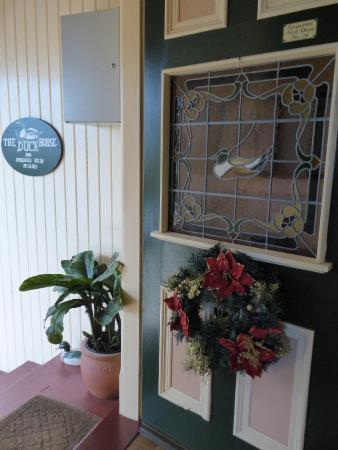 The Duck House: Front door