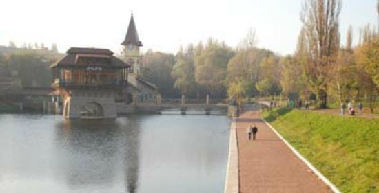 Chernivtsi, Ukraine: На озере жарким летним днем прохладнее