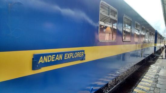 Andean Explorers Cusco: trem