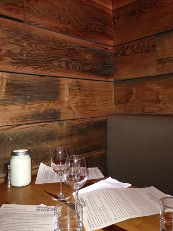 Irving Street Kitchen: Private booth table