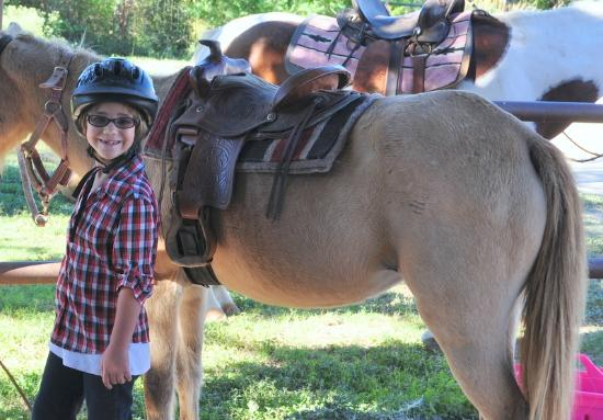 The Sugar & Spice Ranch: My daughters smile that she wore the entire weekend