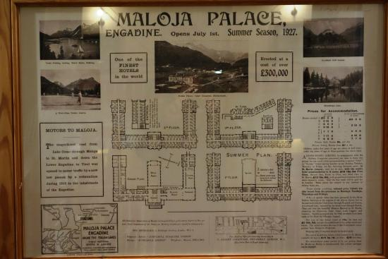 Maloja Palace Hotel : Interesting promotion of the Palace in 1927