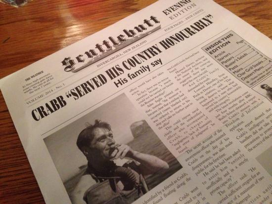 Buster Crabb : Great Menu !!