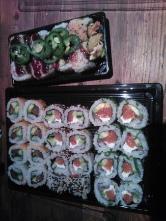 Makisu : makis saumon et tempura de crevettes