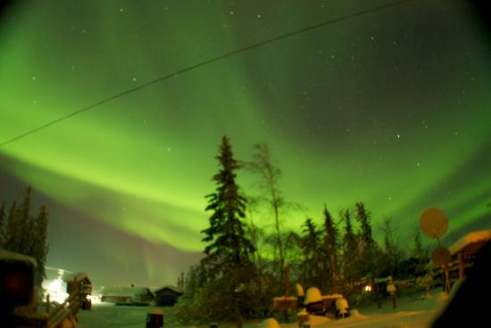 Fort Yukon sits in the Aurora Belt, offering the best opportunity to see the Northern Lights in