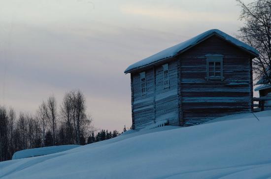 Pelkosenniemi, Finnland: On the lakeshore behind the houses