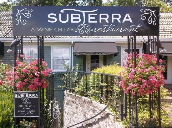Subterra - A Wine Cellar Restaurant, entrance