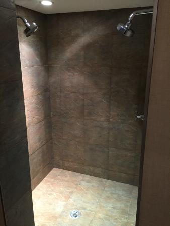 The Woodlands Inn : walk in shower at bridal suite