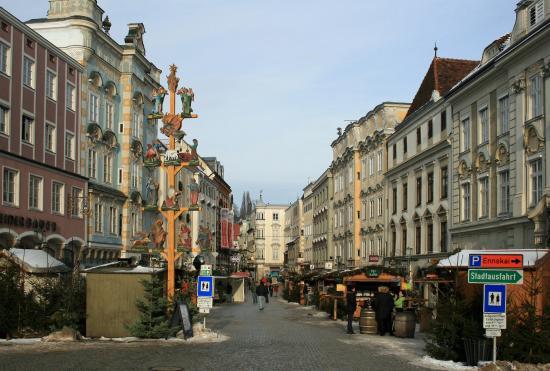 Steyr, Österreich: Mit Christkindlmarkt