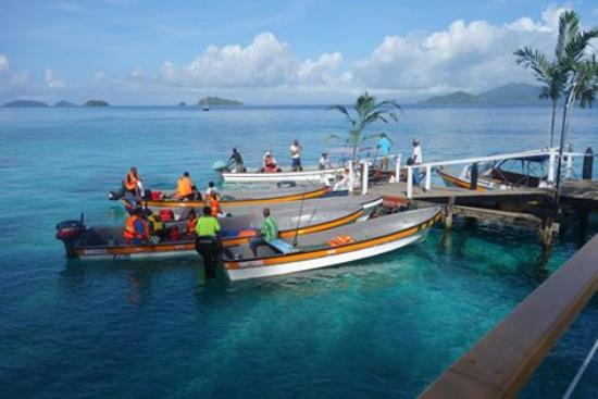 Fishing boats ready and waiting  - Picture of Doini Island
