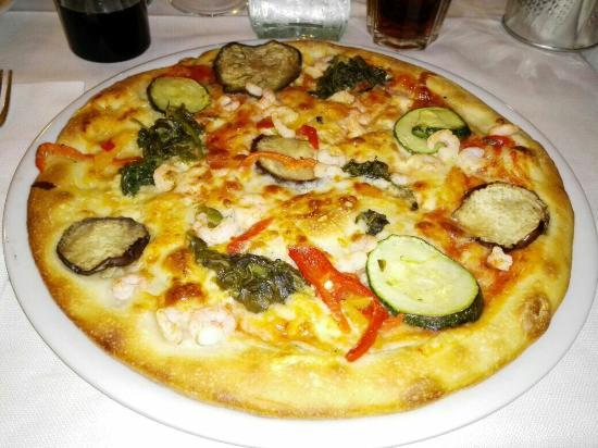 San Martino della Battaglia, Italy: Pizza gamberetti e verdure