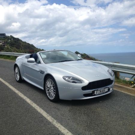 Concept Car Hire : Taking a break in the Vantage.