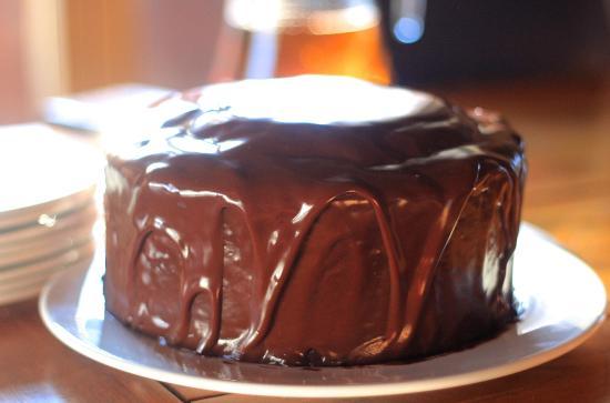 Chalet Les Trois Canards : decadent choc-cake