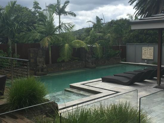 Aabi's at Byron : Pool area from the room veranda