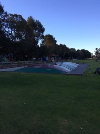 Taunton Farm Holiday Park: Inflatable Trampoline