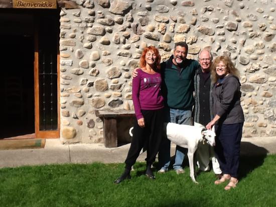 Woodston, KS: Jose and his wine and dog, Bingo!