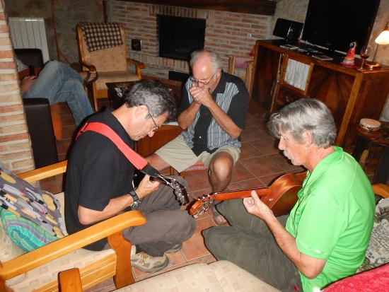 Woodston, KS: Playing music in the living room