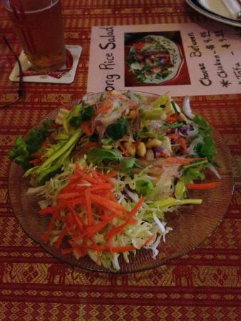 New Chiang Mai Thai Cuisine: Dish of the day, long rice salad with Tofu