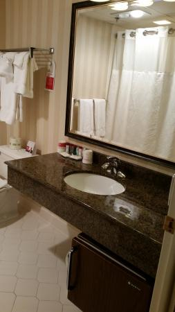 Ramada Plaza Hagerstown: Bathroom view 1