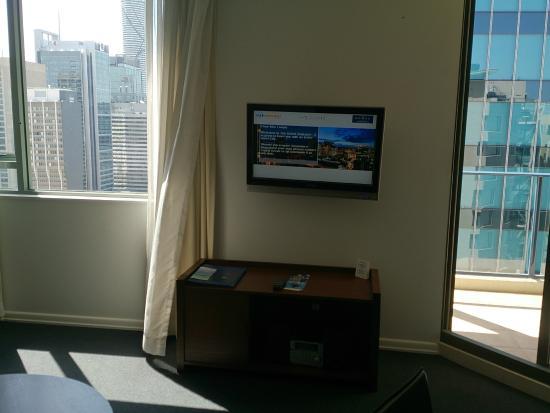 The Sebel Brisbane: Living room TV
