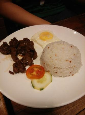 Island Nook: breakfast of Tapsilog