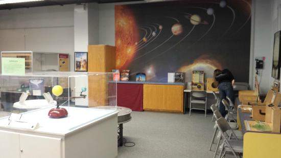 Ingram Planetarium: Part of the interactive room adjacent to the theater.