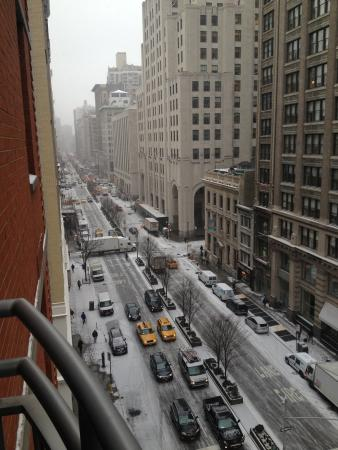 Hotel Giraffe by Library Hotel Collection: Snowy morning in NYC on Park Ave!