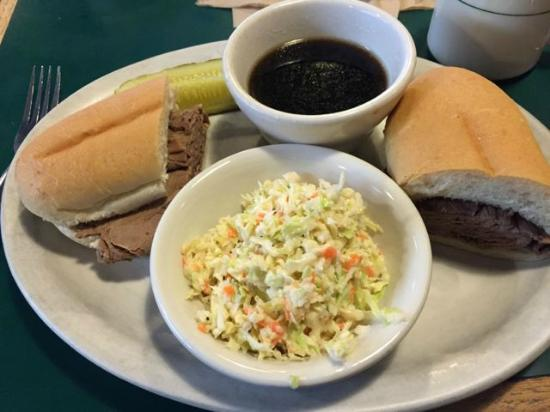 The Shack Cafe: French Dip with Cole Slaw