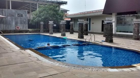 kolam renang picture of hotel santika taman mini