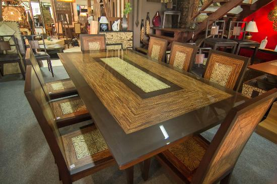 This table is incredible it stands on a pyramid point for T furniture chiang mai