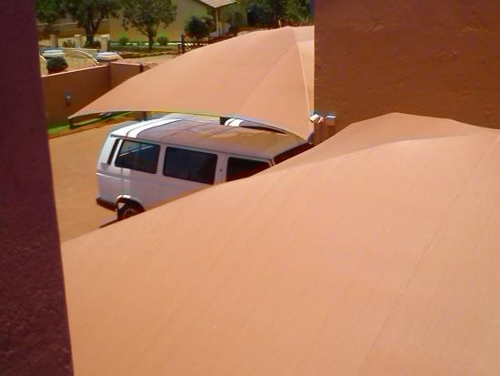 Mogwase Bed & Breakfast : Parking for car's view from my room
